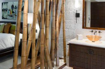 hanging room divider bamboo