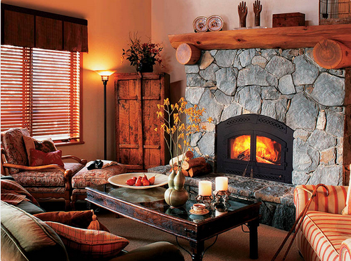 Rustic Fireplace Designs