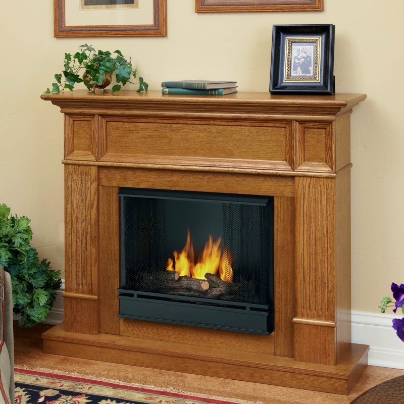 Gel Fireplace Designs with Traditional Charm