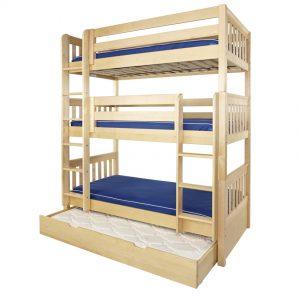 Triple Bunk Bed Plans l Shaped