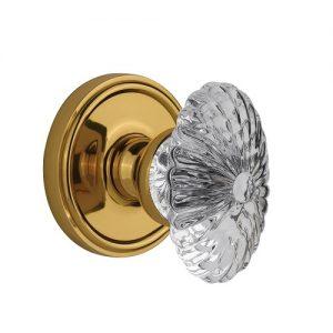 Crystal Door Knobs Brass
