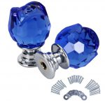 Crystal Door Knobs with Backplate