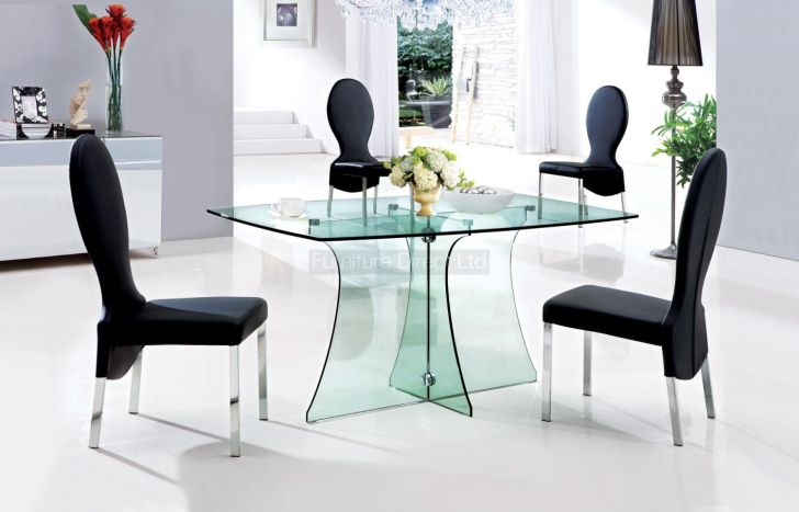 Glass Dining Table Sets 6