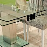 Glass Dining Table Sets Large Glass Extension