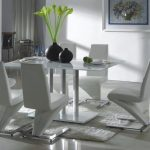 Glass Dining Table Sets with Zuo Roca Leather Chair