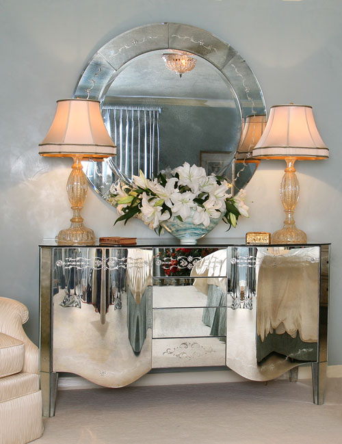Mirrored Furniture Design Cabinet
