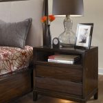 Nightstand Walnut with One Drawer Design