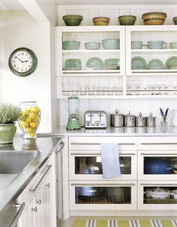 Glass Cabinet Open Shelves