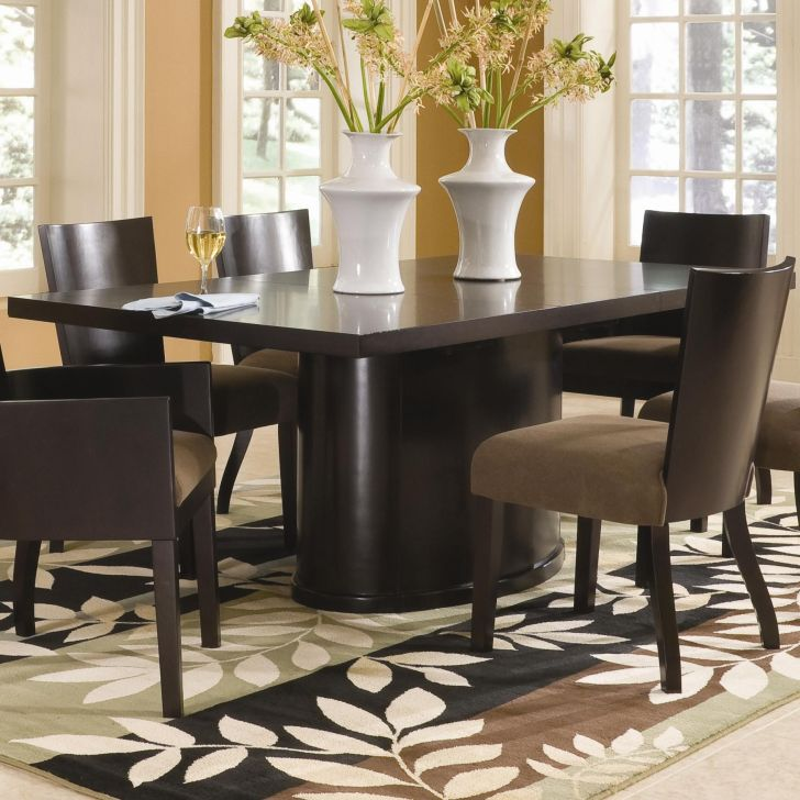 Pedestal Dining Table Set Small Rectangular