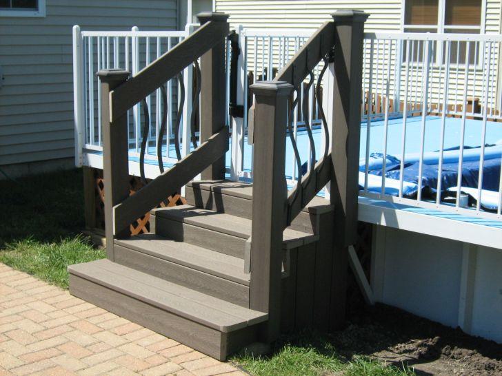 Pool Stairs Deck