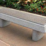 concrete garden benches